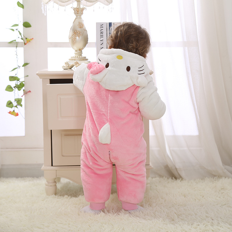 Thermal winter baby rompers suit fashion cartoon design<br>