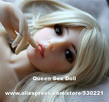 NEW #103 head for sex doll 100cm, solid silicone love dolls head with tongue and wig, oral sex toys for men