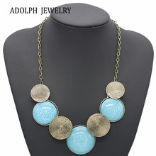 ADOLPH Jewelry Wholesale Maxi Necklace For Women 2015 New Design Fashion Geometric Thread Statement Necklaces & Pendants