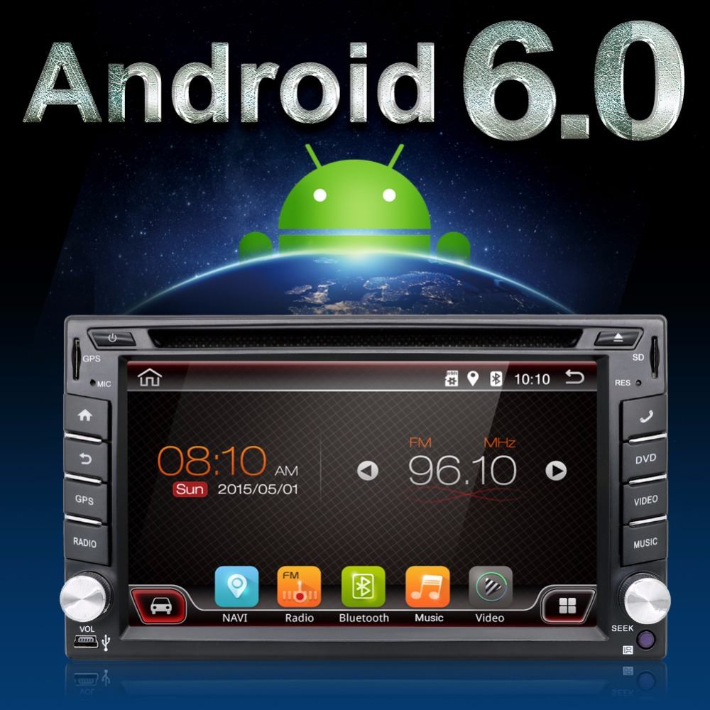 2 double din Android 6.0 Car DVD Player GPS Navi For Toyota Kia Tiida Qashqai Sunny X-Trail Paladin Frontier Patrol Versa Livina(China (Mainland))