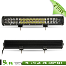 2016 New Arrival 20 Inch 210W 4D LED Light Bar Work Lamp For Offroad 4x4 Wagon Suv Trucks Atv Car 4WD Combo Beam Driving Lights