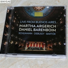 TF-01 new seal: MARTHA ARGERICH Schumann card can group music Debussy Bartoker piano CD light disk [free shipping](China)
