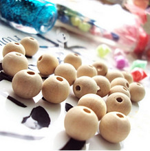 Wholesale Nature Color Round Wooden Beads Lead-free 6mm 8mm 10mm 12mm 14mm 16mm 18mm 20mm 25mm 30mm (K05013)(China)
