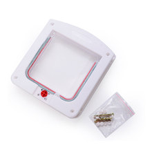This Year Hot Sale Lockable Cat Flap Glass Door Kitten Dog Pet Lock Suitable For Any Wall Or Door  White Brown 2 Colors
