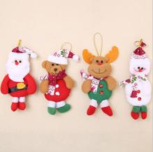 1 Pcs Chrismas Tree Decorations For Home Santa Claus Snowman Elk Bear Christmas Gifts Ornaments Supplies Pendant Free Shipping