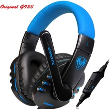 Original Somic G923 Stereo Gaming Wired Headphone Headset 3.5mm PLUG Fone de ouvido Game Computer Headphones with Microphone