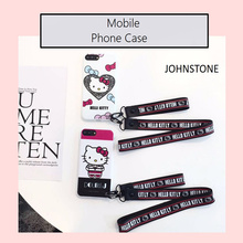 Cutie Hello Kitty IMD Soft Cover Case For8/8p 7/7plus 6/6s and 6plus/6s plus Mobile Phone Skin Body Protector Case with Hanging(China)