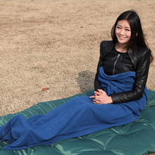 AUTO Fleece Sleeping Bag Camping Outdoor Traveling Ultra-light Multifunctional Portable Warm Polar 7color D1318HY(China)