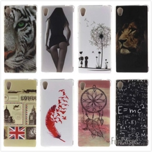 Cartoon High Quality Glossy Soft TPU Case Protector Back Cover Owl Phone Case for Sony Xperia M4 Aqua Dual E2303 E2333 E2353