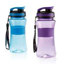 550ml Plastic Water Bottles Sport Drinking Bottle Bicycle Plastic Gourd Bottle With Cover Lip Filter BPA Free School Use(China)