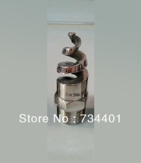 1.2 inch spiral jet nozzle ,316L  stainless steel spiral nozzle,Desulfurization dust cleaning nozzle<br>