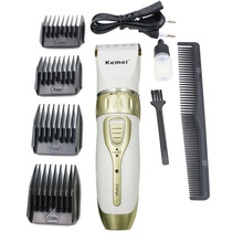 Kemei Rechargeable Electric clippers Professional Hair Clipper for men and women Adjustable salon clipper(China)