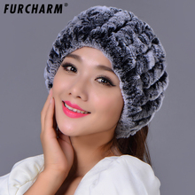 Rex Rabbit Fur Knitted Headbands Can Be Used As Scarf Women Warm Winter Real Fur Caps Ear Warmer Head Wrap Real Fur Ring Scarves(China)