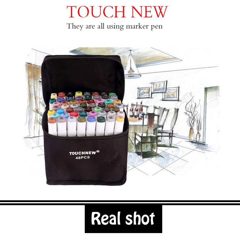 TOUCHNEW 36 40 60 80  Colors Markers Pen Painting Manga Art Marker Set Stationery Pen For School Copic Sketch Markers<br>