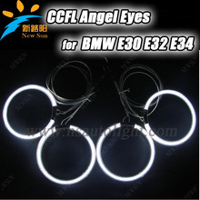 Super Bright Colorful CCFL Angel Eyes for BMW E30 E32 E34 Halo Ring Car Angel Eyes bulbs lamps kit white blue green red Purple