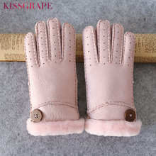 Sell Well Russian Women Winter Warm Gloves Best Gifts For Families Leather Gloves Keep Hands Warm Outdoor Women's Winter Gloves