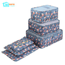 LIYIMENG 6Pcs/Set Travel Storage Bag Home Organizer Box For Clothes Tidy Pouch Suitcase Clothing Divider Container Outdoor Boxes(China)