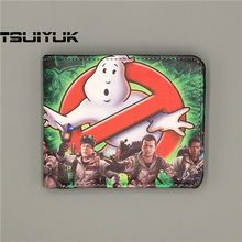 Retail Wholesale Hot Movie Ghostbusters Logo wallets Purse Multi-Color 12cm Leather Man women New