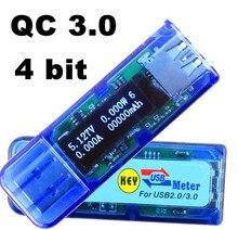 OLED Display Digital 4 bit usb 3.0 Mobile Power charging Detector current tester capacity voltage meter voltmeter Ammeter