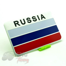 Rhino Tuning Aluminum RUSSIA Car Body Emblem Sticker Russian Flag Auto Rear Trunk Boot Badge Decal for All Car 597