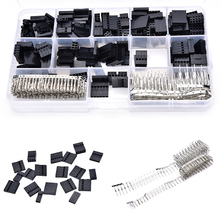 New 620pcs/set Dupont Wire Cable Jumper Pin Header Connector Housing Kit +M/F Crimp Pins with Box wholesale