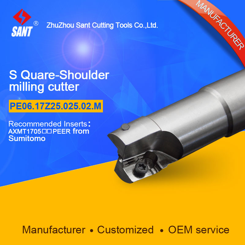 Customized size Square Should Milling Cutter Kr 90 PE06.17Z25.025.02.M, with APKT1705PER insert<br>