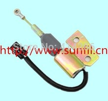 Flameout solenoid valve 3991168 FIT R130 excavator +fast cheap shipping,24V,4PCS/LOT(China)