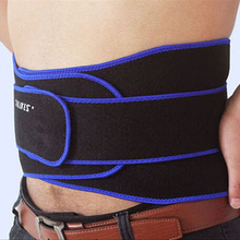 2017 New Blue Red Colors Lumbar Brace Guard Pain Relief Back Waist Support Lumbar Brace Sports Belt For Basketball Weightlifting(China)