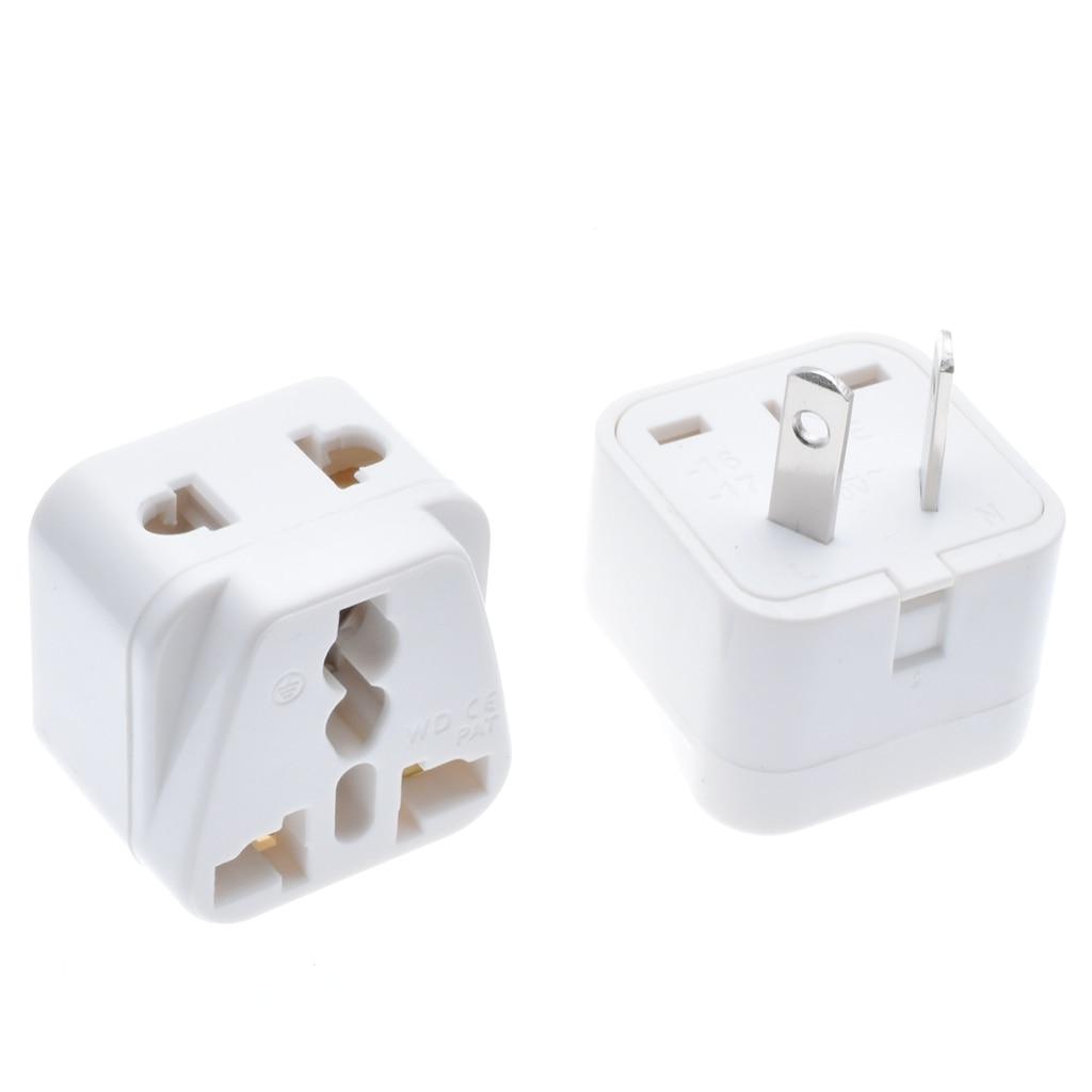 2 Pin AU Plug Adapter UK US EU Euro to AU/NZ Power Plug Travel Adapter for Australia or New Zealand