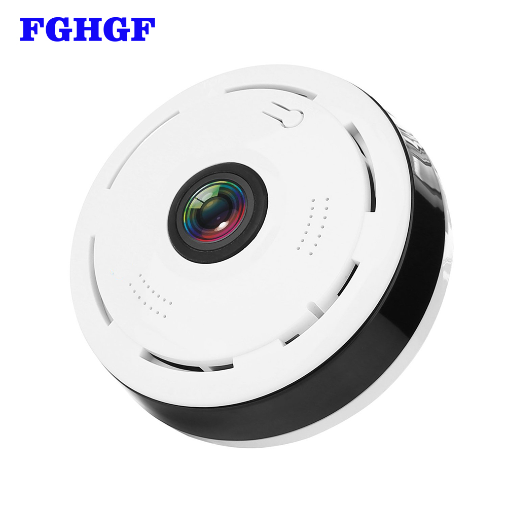 FGHGF IP Camera Wireless Wifi 360 Degree Panoramic 2.0 Megapixel 1080P Home Security Camera Super Wide Angle Support IR CUT<br>