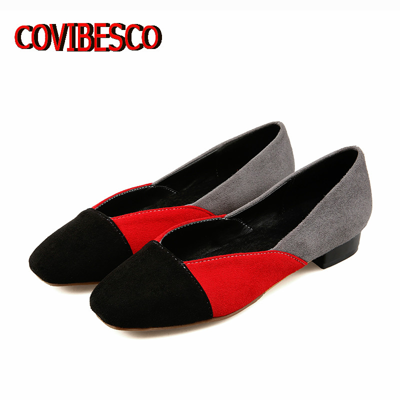 2017 Women Fashion Sexy Patchwork Shoes Brand Design Ladies Black Pink Red Square Toe Spring Summer Shoes Large Size 34-43<br><br>Aliexpress