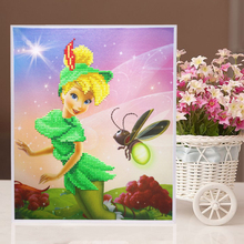 Fairy series resin puzzle Creative stickers toys cartoon girl gift handmade educational toys for kids learning games NK119
