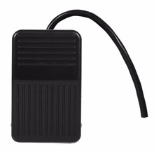 1pc 220V 10A Electrical Power Plastic Foot Pedal Switch On/Off Control Black Color + 10cm Cord On/Off Pedal(China)