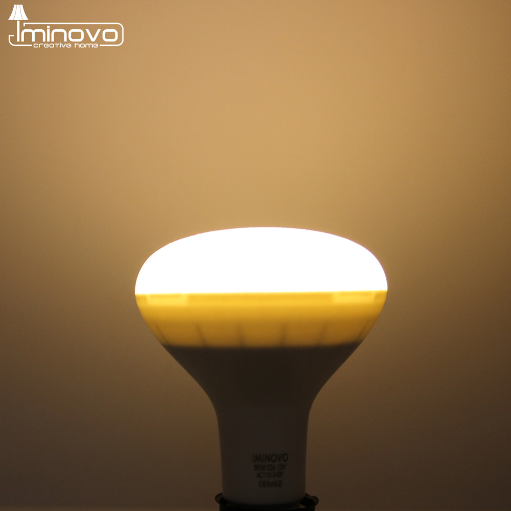 IMINOVO LED BR30 Light Bulb 12W 15W Dimmable E26 E27 Mushroom Umbrella Lamp Halogen Flood Light Replacement Incandescent Bulb<br><br>Aliexpress