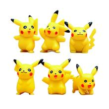 6pcs BOHS Six Styles Pikachu Mini Action Figures Doll Collections Toys