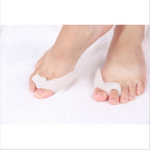 MOONBIFFY 2Pcs Silicone Gel Bunion Splint Big Toe Separator Overlapping Spreader Protection Corrector Hallux Valgus Foot Massage(China)