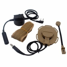 3pcs HD03 Z Tactical Bowman Elite II Headset Waterproof Round PTT for BaoFeng UV-5R UV-5X UV-6R UV-82 GT-3TP RT-5R two way radio(China)