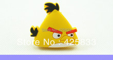 Yellow Rubber Bird Furniture Drawer Knobs for Baby Bedroom Desk Dresser Pulls Cartoon Furniture Pull Bulk Price(China)
