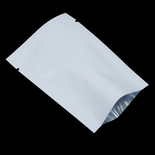 300Pcs/Lot White Top Open Aluminum Foil Packing Bag For Powder Bean Tea Mylar Cooked Food Storage Heat Seal Vacuum Package Bag(China)