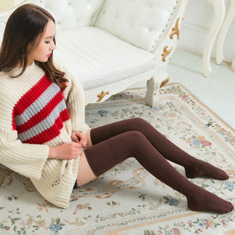 Knee Socks, Women's Cotton Thigh High Over The Knee Stockings, Ladies, Girls, Warm Long Stocking Sexy 11