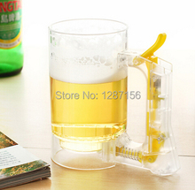 Free Shipping Innovative items Happy Hour Eco friendly Beer Cup Plastic Acrylic Clear Sparkling Beer Mug(China)
