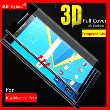 3D Full Cover Tempered Glass Capa For Blackberry Black berry Priv Smartphone Films Protector Colorful Phone Protective Film Case(China)