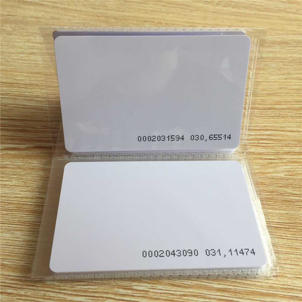 Smart Contactless 125KHZ EM4100 RFID Blank White Proximity ID Smart Entry Access control Card (pack of 100)<br>