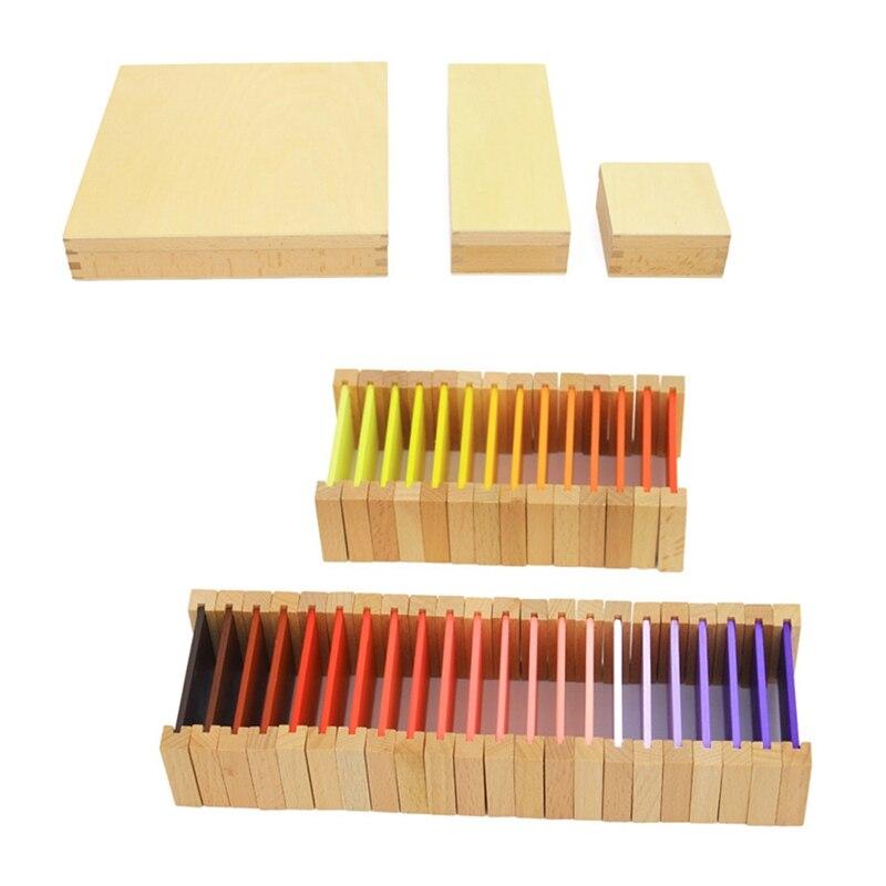 Sensorial Color Box Montessori Training Wooden Toy Kids School Teaching Aids