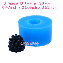 SYL038 13.3mm 3D Fruit Blackberry Silicone Mould - Fruit Mold Cake Decoration Fondant, Sugarcraft, Jewelry, Resin Fimo Clay Mold(China)