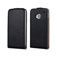 For HTC One M7 Phone Case Mobile Accessory Genuine Leather Smartphone Protective Cover For HTC One M7(China)