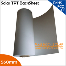 20meter/lot Wholesale 560mm Solar Back Sheet, PV Back Sheet for Laminated Solar Panel, 0.3mm Thickness Solar TPT Back Sheet(China)