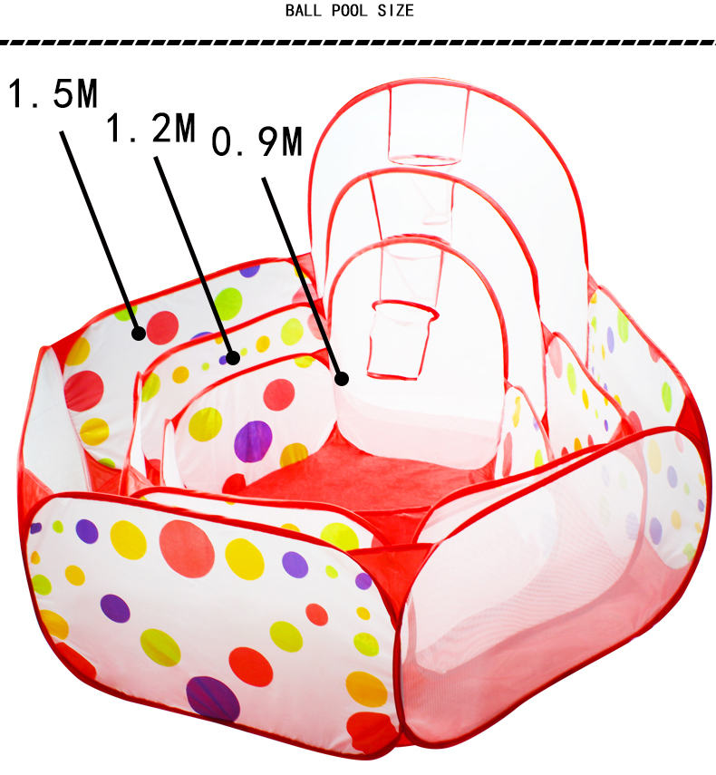 Ballx Pool with Basket Children Toy Ocean Ball Pit Baby Playpen Tent Outdoor Toys for Children Ballenbak 7