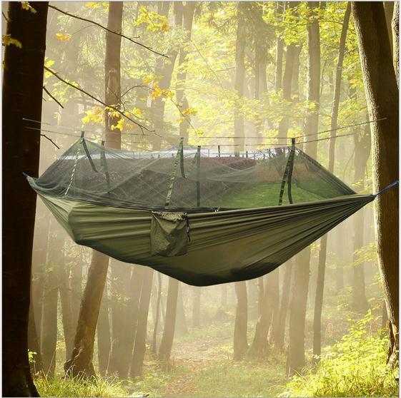 Портативный нейлоновый парашют двойной сад гамака наружное колебание гамака выживания мебели путешествия кемпинга, спя кровать для 2 людей