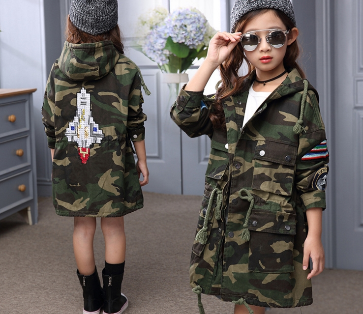2017 New spring Kids coat Girls coat toddler clothes girl outwear autumn and winter jacket thick coat of teenager 4-15 Y kids<br><br>Aliexpress